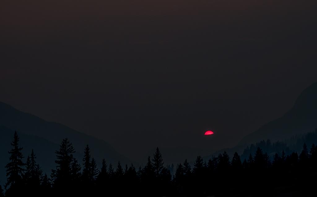 Smoked In Sunset, Transcanada Highway, Approaching Golden, British Columbia, Canada