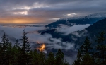 Valley Glow, Squamish River Valley, Tantalus Lookout, Sea to Sky Highway, British Columbia, Canada