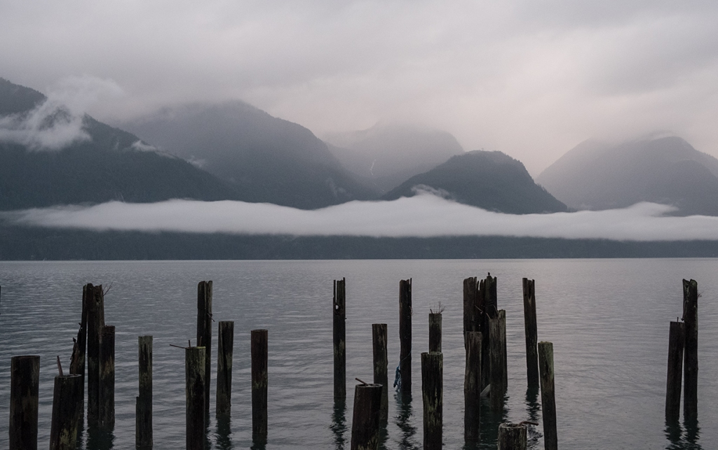 Vibrant Greys, Britannia Beach, Howe Sound, Sea to Sky Highway, British Columbia, Canada