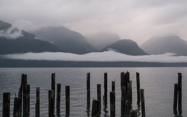 Vibrant Greys, Britannia Beach, Howe Sound, Sea to Sky Highway, British Columbia, Canada