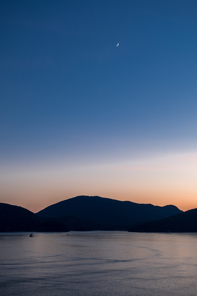 Crescent Sliver, Bowen Island, Howe Sound, Sea to Sky Highway, British Columbia, Canada
