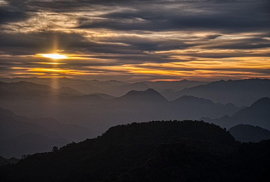 Himalayan Foothills Sunrise VIII, Kunjapuri Devi Temple, Rishikesh, Uttarakhand, India