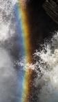 rainbow spray, athabasca falls, athabasca river, jasper national park, alberta, canada