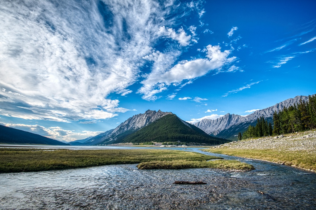 Valley Flow, Maligne Valley, Jasper National Park, Alberta, Canada