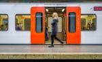 But a Blur, Muntaner Metro Station, Catalonia, Barcelona, Spain
