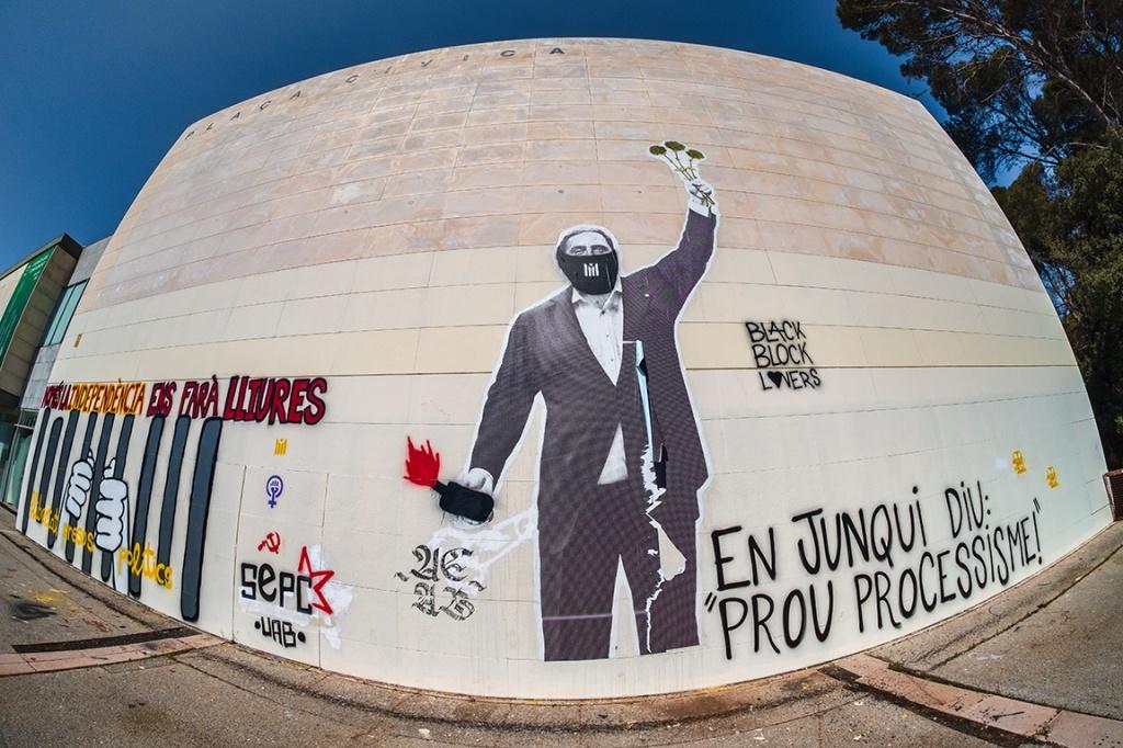 Catalunya Political Graffiti, Universitat Autònoma de Barcelona (UAB), Cerdanyola de Valles, Catalunya (Catalonia), Spain