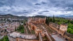 Alhambra, from the Bell Tower, Granada, Andalucia, Spain