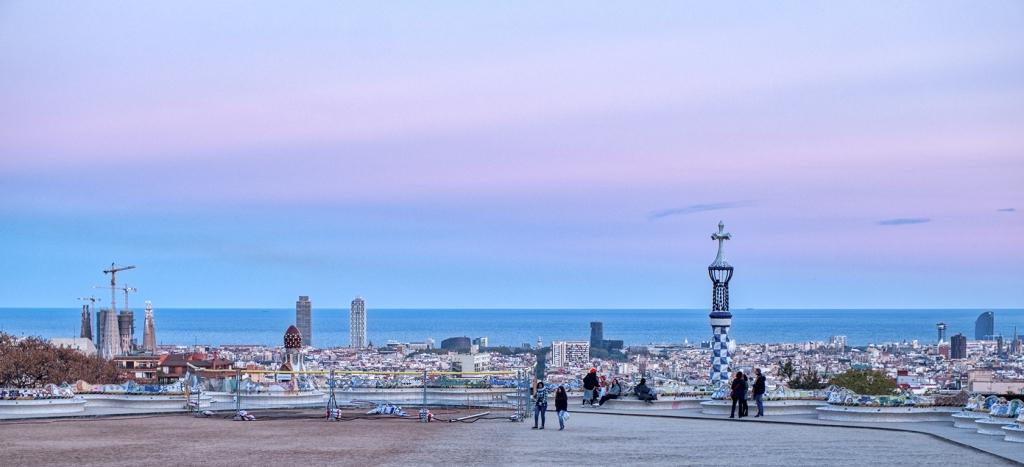 Gaudi on the Mediterranean, Park Güell, Barcelona, Catalonia, Spain