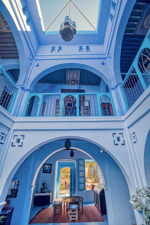 Hotel Lobby and Foyer,Dar Dadicilef Hotel, Chefchaouen, Morocco