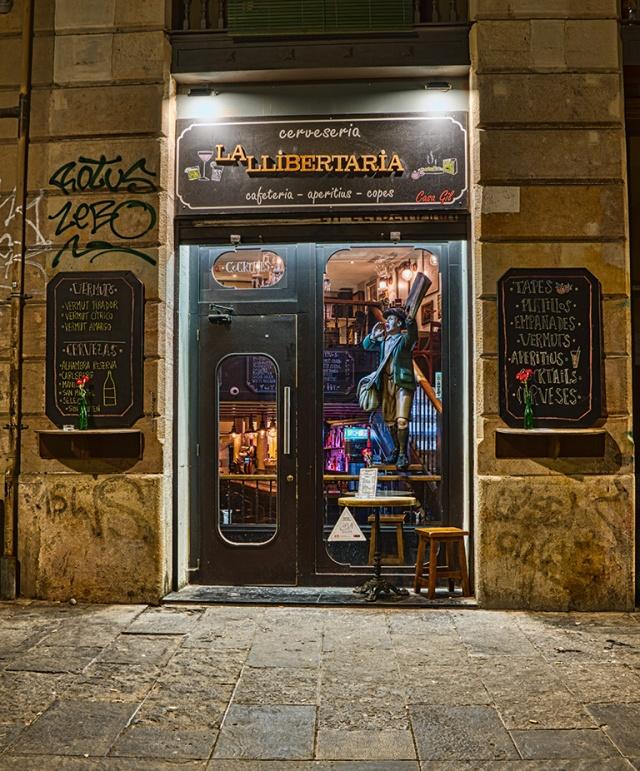 La Llibertaria, Gothic Quarter, Barcelona, Catalonia, Spain