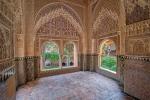 Windows, Palacios Nazaríes, Alhambra, Granada, Andalucia, Spain