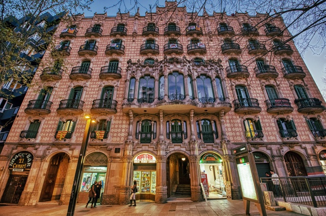 Cases Ramos, Plaça de Lesseps, Barcelona, Catalonia, Spain