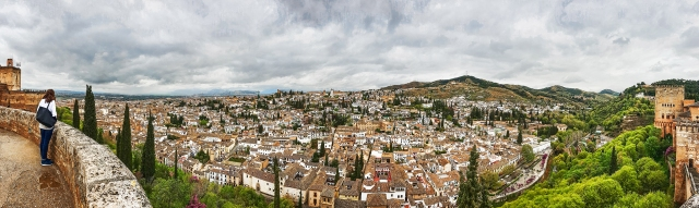 Gaze Upon Another TIme, From the Alhambra, Granada, Spain