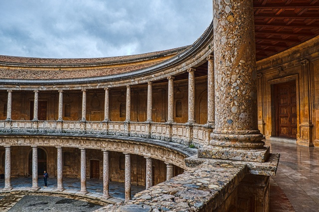 Grand Sweep of History, Palace of Charles V, The Alhambra, Granada, Spain