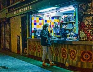 Night Owls, Bar Mendizabal, Gothic Quarter, Barcelona, Catalonia, Spain copy