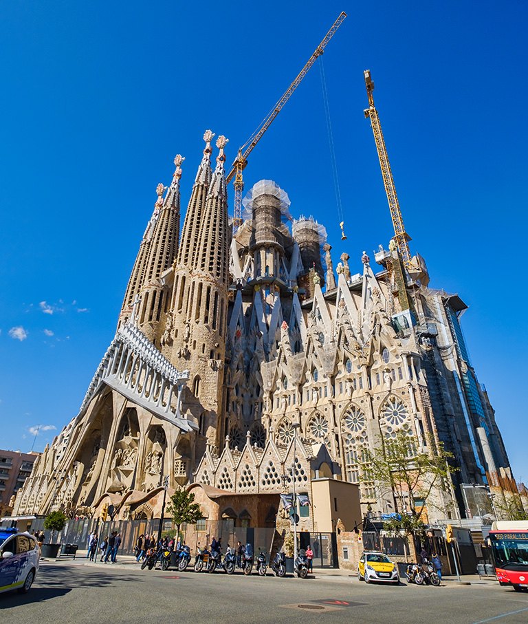 Gaudi, La Familia Sagrada, Barcelona, Catalonia, Spain