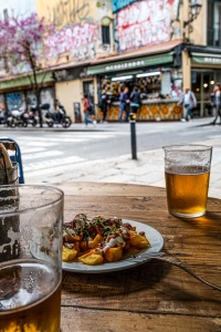 Patatas Bravas, Bar Mendizábal, Gothic Quarter, Barcelona, Catalonia, Spain