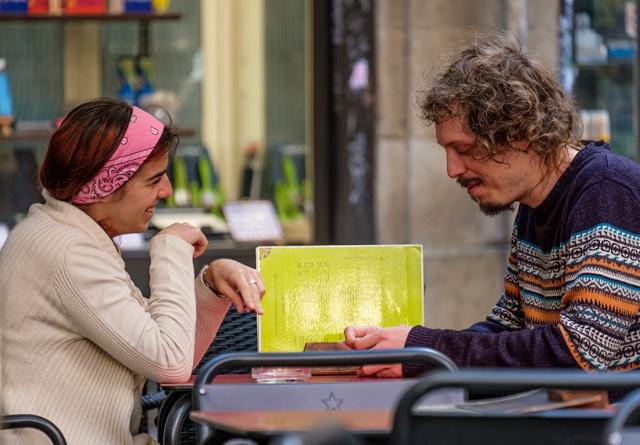 Vulnerability, Escas Tapas, Plaça del Bonsuccés, Barcelona, Catalonia, Spain