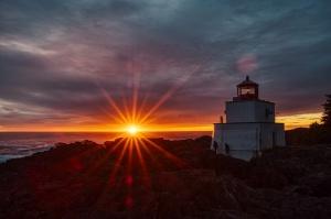 Beacons, Amphitrite Point Lighthouse, Ucluelet, British Columbia, Canada