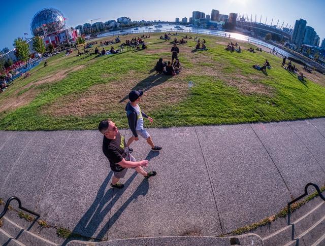 Walking, Creekside Park, Vancouver, British Columbia, Canada