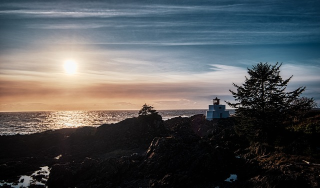 Amphitrite Light, Amphitrite Point Lighthouse, Wild Pacific Trail, Ucluelet, Vancouver Island, British Columbia, Canada