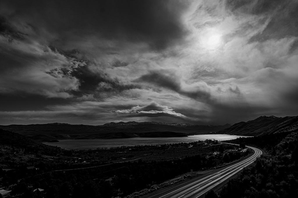 Day for Night, Topaz Lake, US HWY 395, Nevada-California, United States of America