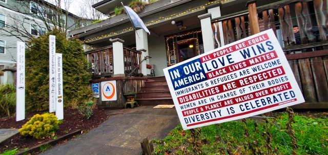 In Our America Love Wins, HI Portland Hawthorne Youth Hostel, Portland, Oregon, United States of America