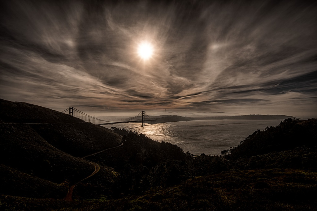 A Glimmer Beyond the Surreal, Golden Gate Bridge, From the Marin Headlands, San Francisco, California, United States of America