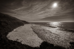 Awe, Pacific Coast Highway, Southern California Coast, United States of America