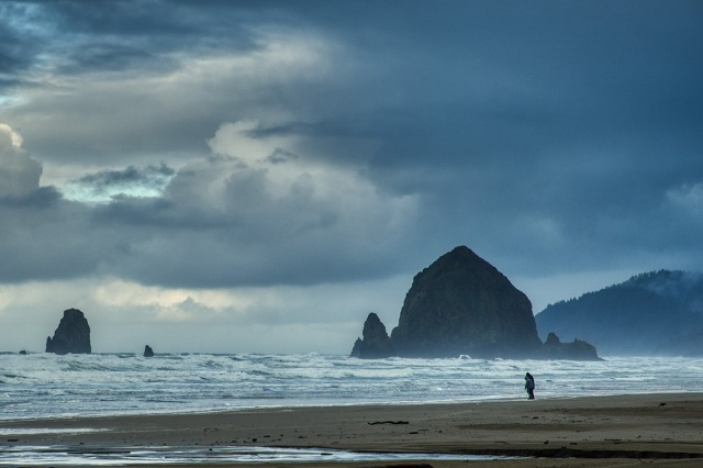 I stand with you, Haystack Rock, Cannon Beach, Oregon, United States of America