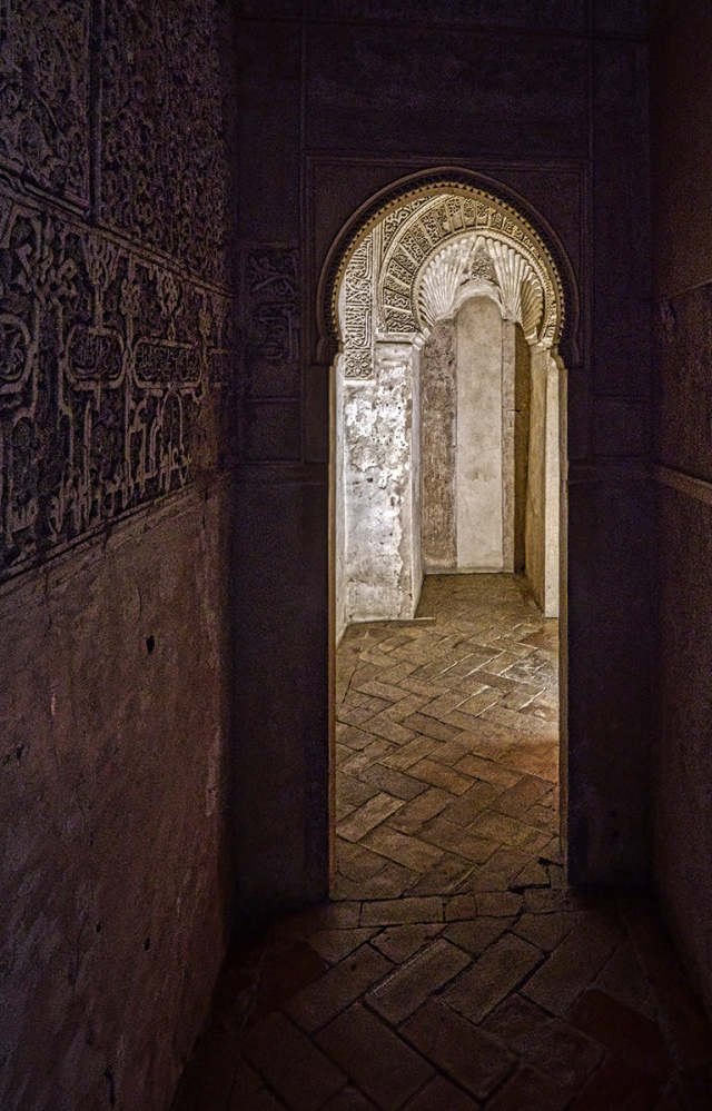Arches, Palacios Nazaries, Alhambra, Granada, Spain