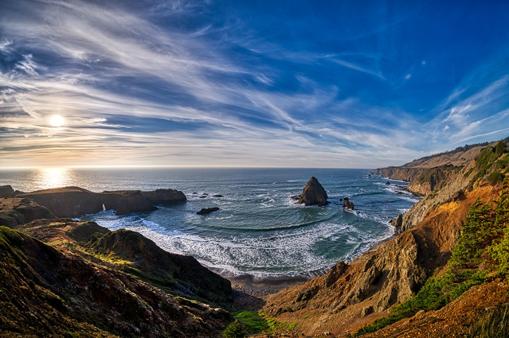 Crescent in the Cove, Pacific Coast Highway, Northern California, United States of America