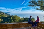 Jeanne and Lori, Nepenthe Restaurant, Big Sur, Pacific Coast Highway, California, United States of America