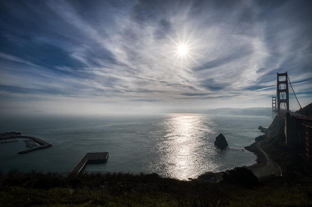 Morning Fog, Golden Gate Bridge, San Francisco Bay, San Francisco, California, United States of America