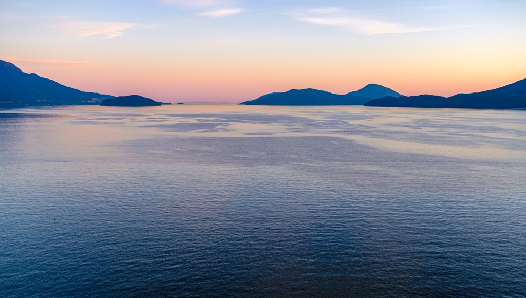 Pastel Twilight, Howe Sound, Sea to Sky Highway, Near Lions Bay, british Columbia, Canada II