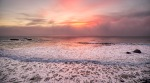 Rose and Candle Sunset, Seaside Creek Beach, Pacific Coast Highway, Mendocino County, California, United States of America