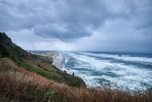 Storm Driven, Heceta Beach, Oregon Coast Highway, Oregon, United States of America