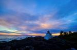 Glorious Failing Sun, Amphitrite Point Lighthouse, Wild Pacific Trail, British Columbia, Canada