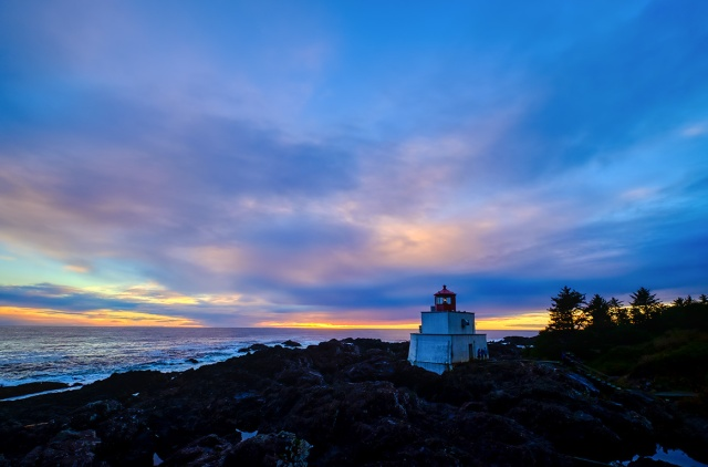 Glorious Failing Sun, Amphitrite Point Lighthouse, Wild Pacific Trail, British Columbia, Canada