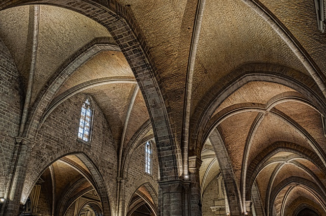 Hollowed Halls, Valencia Cathedral, Valencia, Catalonia, Spain