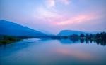 Reflective Fire, Revelstoke, Columbia River, British Columbia, Canada