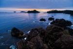 Rugged Sunset, Food Islets, Near Ucluelet, Vancouver Island, British Columbia, Canada