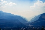 Smoke from a Distant Fire, Revelstoke, British Columbia, Canada