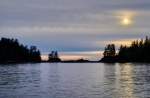 Soft Light and Silhouettes, Food Islets, Near Ucluelet, Vancouver Island, British Columbia, Canada