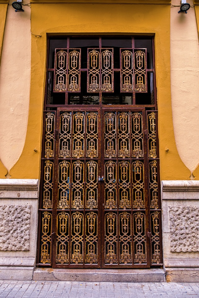Unopened, Doorway, Valencia, Catalonia, Spain