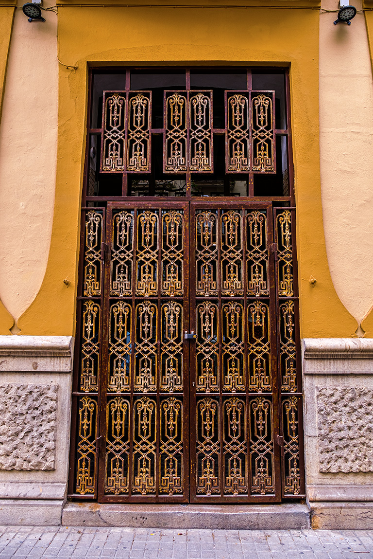 Unopened, Doorway, Valencia, Catalonia, Spain