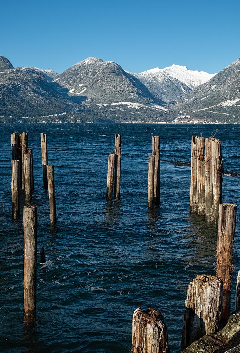 Winter Crisp, Britannia Beach, Howe Sound, Sea to Sky Highway, British Columbia, Canada