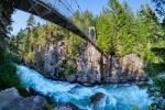 A River Runs Through It, MacLaurin's Crossing Suspension Bridge, Cheakamus River, Whistler, British Columbia, Canada