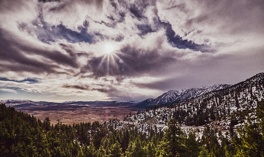 Exiting the Sierras, Nebelhorn, Lincoln Highway, California, United States of America