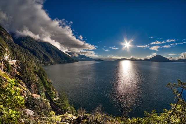 Nearby Star, Howe Sound, Sea to Sky Highway, Near Lions Bay, British Columbia, Canada